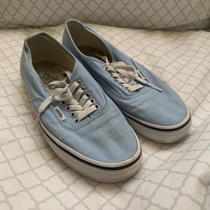 Vans Baby Blue Shoes